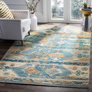 Safavieh Canyon Hand-Woven Blue/ Multi Wool Area Rug (4' x 6')