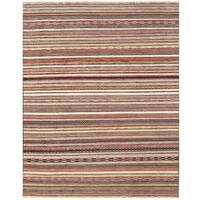 Herat Oriental Afghan Hand-knotted Vegetable Dye Gabbeh Wool Rug (9'1 x 11'7)