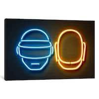 iCanvas 'Neon Luminosity Series: Daft Punk' by Octavian Mielu Canvas Print
