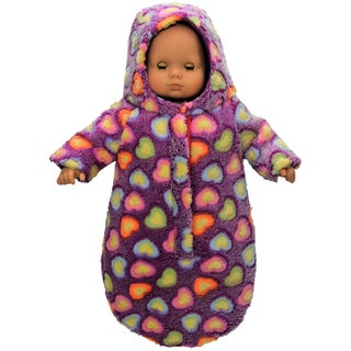 The Queen's Treasures 15 Inch Baby Doll Soft Plush Bitty Bunting Purple Snow Suit