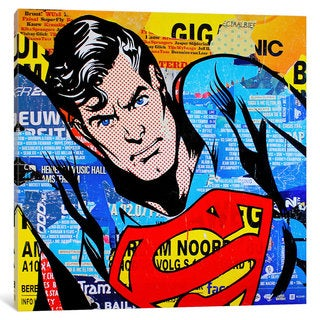 iCanvas Superman by Michiel Folkers Canvas Print