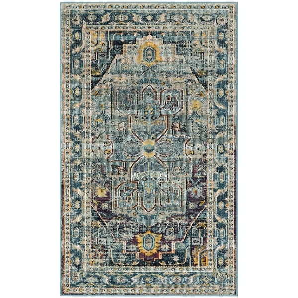 Shop Safavieh Crystal Teal/ Purple Area Rug