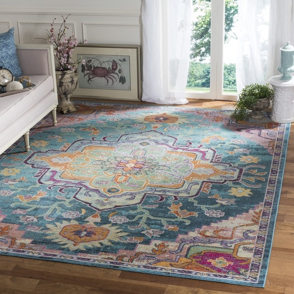Shop Safavieh Crystal Teal/ Pink Area Rug