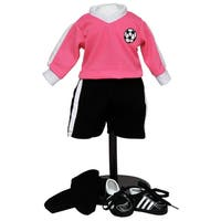 The Queen's Teasures Complete 6-piece Doll Soccer Outfit For 18-inch Dolls