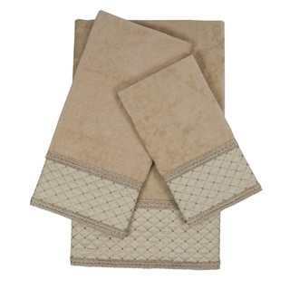 Sherry Kline Kinzie Gimp Natural Decorative Embellished Towel Set