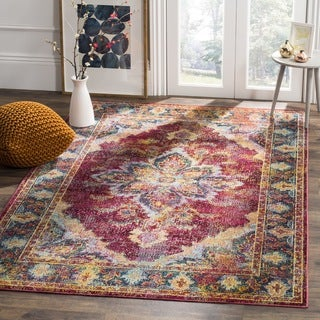 Safavieh Crystal Red/ Navy Area Rug (3' x 5')