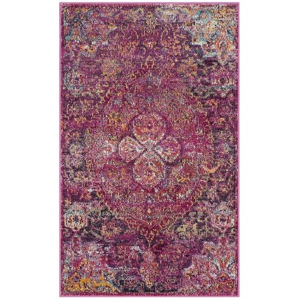 Shop Safavieh Crystal Pink Purple Area Rug 3 X 5 On