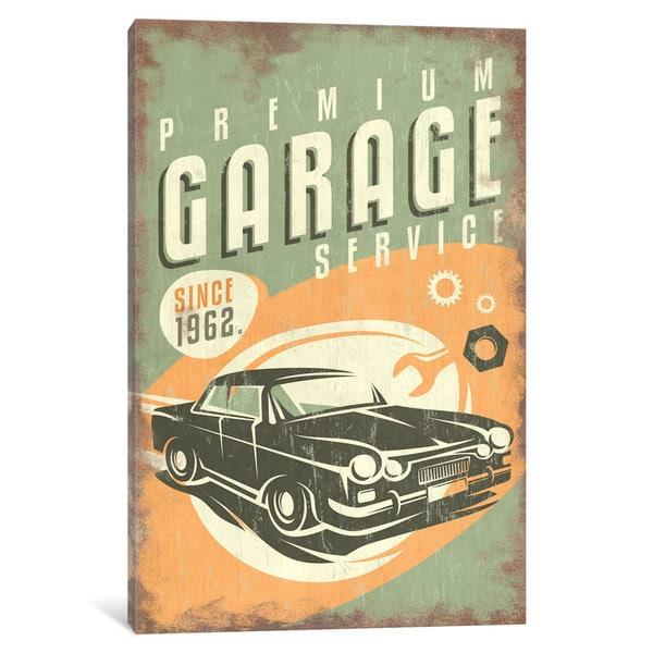 iCanvas 'Premium Garage Service Sign' by Lantern Press Canvas Print