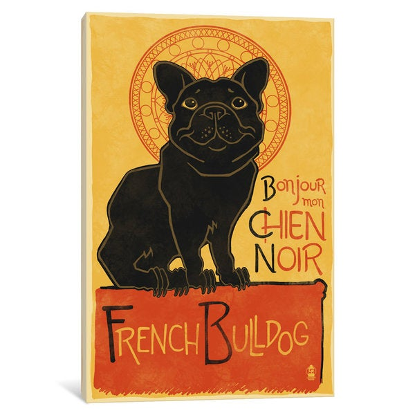 iCanvas 'French Bulldog' by Lantern Press Canvas Print