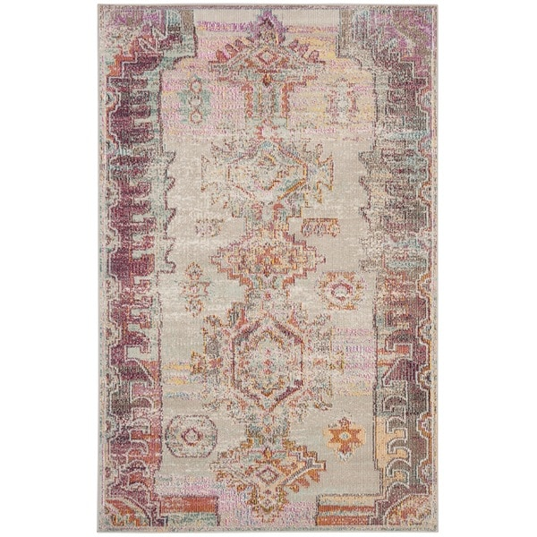 Safavieh Crystal Grey/ Purple Area Rug - 3' x 5'