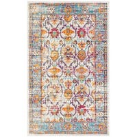 Safavieh Crystal Cream/ Teal Area Rug - 3' x 5'