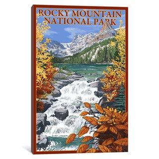 iCanvas 'U.S. National Park Service Series: Rocky Mountain National Park (Odessa Lake)' by Lantern Press Canvas Print