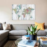 iCanvas 'Boho Map II' by Jennifer Goldberger Canvas Print