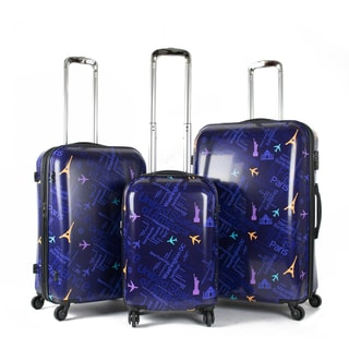 American Green Travel Destinations 3-Piece Hardside Spinner Luggage Set