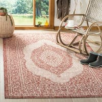 Safavieh Courtyard Moroccan Indoor/Outdoor Beige/ Natural Area Rug - 4' x 5'7""