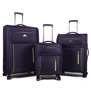 AGT Soteria 3-Piece TSA Lock Anti-theft Lightweight Spinner Luggage Set