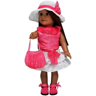 The Queen's Treasures 5-piece Pink Clothing & Accessory Set For 18-inch Dolls
