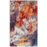 Safavieh Gypsy Red/ Ivory Polyester Area Rug - 3' x 5'