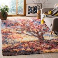 Safavieh Gypsy Red/ Blue Polyester Area Rug - 4' x 6'