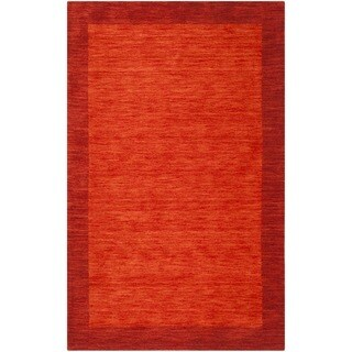 Safavieh Himalaya Hand-Spun Red Wool Area Rug (3' x 5')
