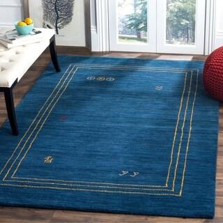 Safavieh Himalaya Hand-Spun Blue/ Multi Wool Area Rug (4' x 6')