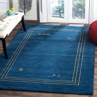 Safavieh Himalaya Hand-Spun Blue/ Multi Wool Area Rug - 4' x 6'