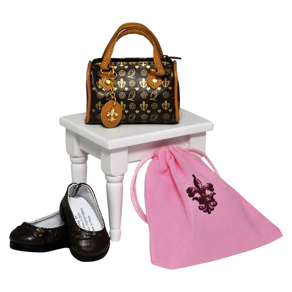 The Queen's Treasures American Designer TQT Handbag & Shoes with Real Shoe Box! For 18-inch Dolls