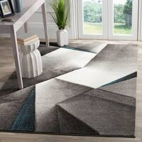 Safavieh Hollywood Grey/ Teal Area Rug - 4' x 6'