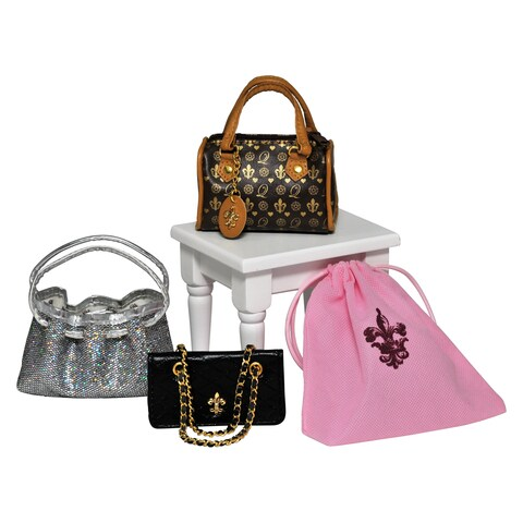 The Queen's Treasures Classic American Designer Handbags! High Quality Accessories Set for 18-inch Doll