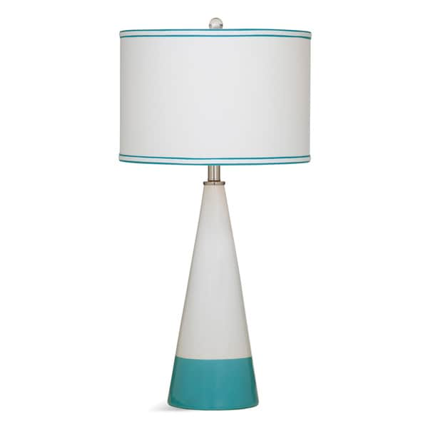 Bassett Mirror Company Maisie Blue and White Ceramic Table Lamp