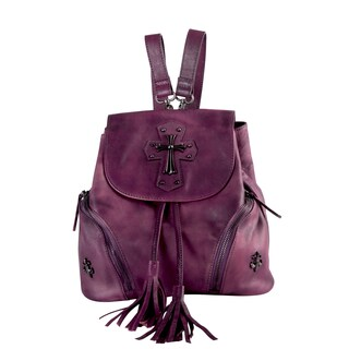 Diophy Genuine Leather Small Backpack