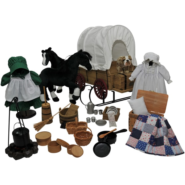 The Queen's Treasures Little House 48-piece Doll American Prairie Doll Clothes & Accessory Set For 18-inch Dolls
