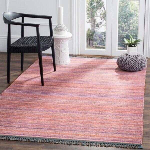 Purple Viscose Rug: Shop Safavieh Kilim Hand-Woven Purple/ Red Viscose Area