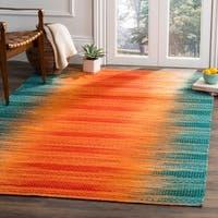 Safavieh Kilim Hand-Woven Teal/ Red Wool Area Rug - 4' x 6'