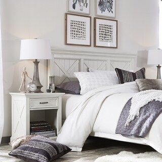 Havenside Home Port Lavaca X-detail Queen/ Full Headboard & Nightstand