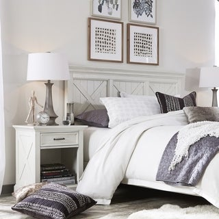 Link to The Gray Barn Riverbone X-detail Queen/ Full Headboard & Nightstand Similar Items in Bedroom Furniture