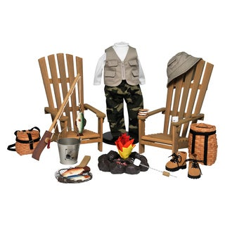 The Queen's Treasures Outdoor Camping & Fishing Adventure 21-piece Furniture, Accessory & Clothing Set for 18-inch Dolls