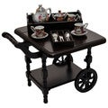 The Queen's Treasures Wooden American Style Drop Leaf Tea Cart Furniture & Accessories For 18-inch Dolls