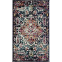 Safavieh Monaco Bohemian Medallion Blue/ Pink Distressed Area Rug - 3' x 5'