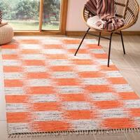 Safavieh Montauk Hand-Woven Orange/ Multi Cotton Area Rug - 4' x 6'
