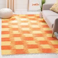 Safavieh Montauk Hand-Woven Yellow/ Orange Cotton Area Rug - 4' x 6'