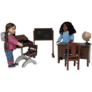 The Queen's Treasures Teacher & Student American Classroom Furniture & Accessories For 18-inch Dolls