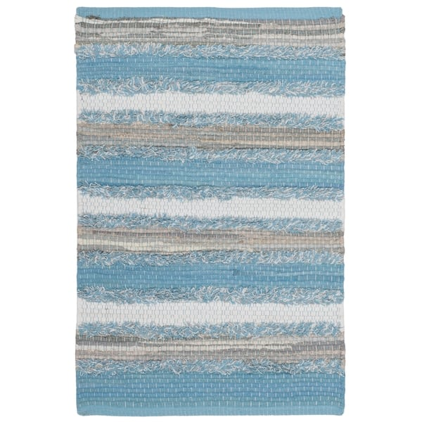 Safavieh Montauk Hand Woven Blue Multi Cotton Area Rug