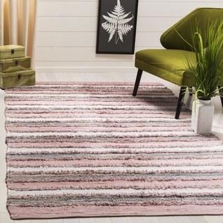 Safavieh Montauk Hand-Woven Pink/ Multi Cotton Area Rug (3' x 5')