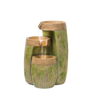 Alfresco Home Highlands Multicolor Resin Fountain with Pump and Light