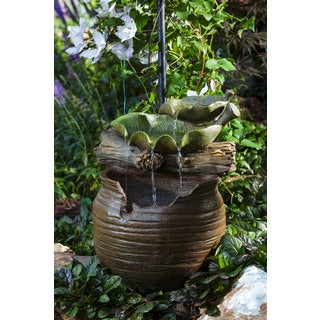 Alfresco Home Tamara Box Resin Fountain w/ pump