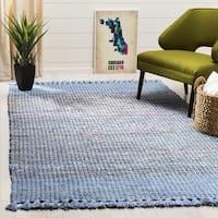 Safavieh Montauk Hand-Woven Blue/ Multi Cotton Area Rug - 3' x 5'