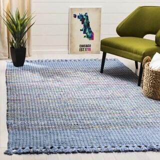 Safavieh Montauk Hand-Woven Blue/ Multi Cotton Area Rug (3' x 5')