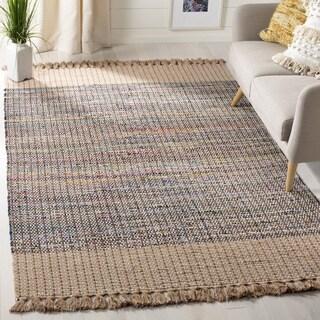 Safavieh Montauk Hand-Woven Beige/ Multi Cotton Area Rug (3' x 5')