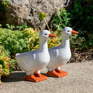 Alfresco Home Ceramic White Goose